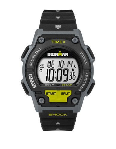 Timex Digital Black Resin Strap Watch-BLACK-One Size