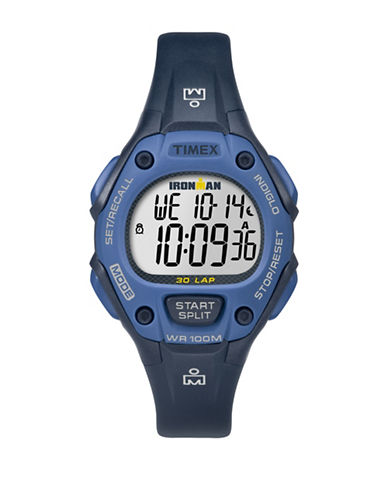 Timex Digital Two-Tone Blue Resin Strap Watch-BLUE-One Size