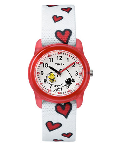 Timex Youth Analog Peanuts Watch-WHITE-One Size