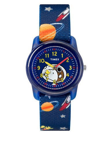 Timex Peanuts Snoopy Space Elastic Strap Watch-BLUE-One Size