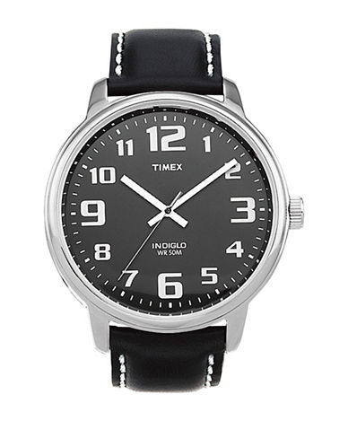 Timex Easy Reader Black Dial Watch-BLACK-One Size