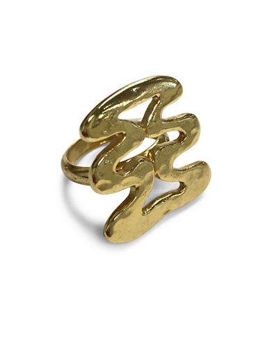 Ben Amun Sculpture Garden 24K Goldplated Ring-GOLD-7