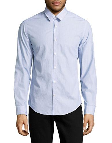 Boss Green C-Bustai Bar Striped Sport Shirt-DARK BLUE-Medium