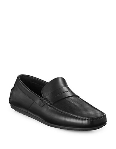 Hugo Leather Moccasins-BLACK-9