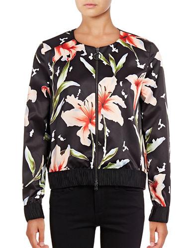 Hugo Aitana Ruched-Trim Floral Jacket-MULTI-EUR 44/US 12