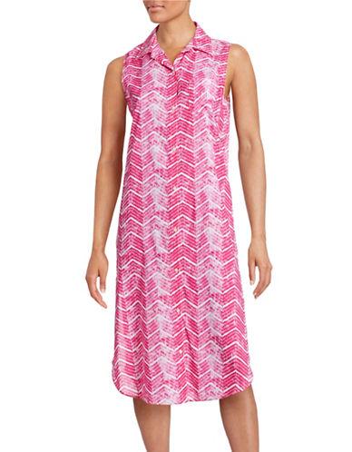 Lauren Ralph Lauren Printed Sleeveless Nightgown-GREY-Medium 88426165_GREY_Medium