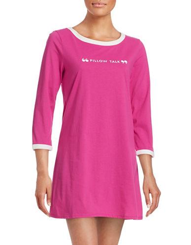 Kate Spade New York Classic Graphic Sleepshirt-PINK-Large