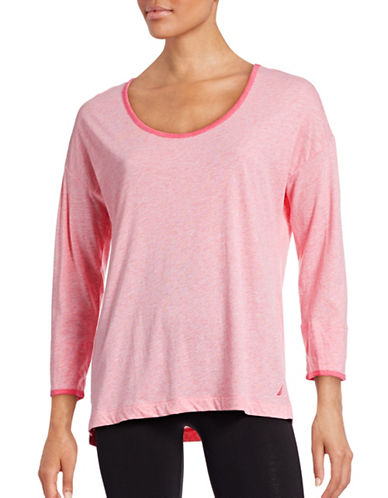 Nautica Ringer Sleep T-Shirt-PINK-Medium 88438978_PINK_Medium