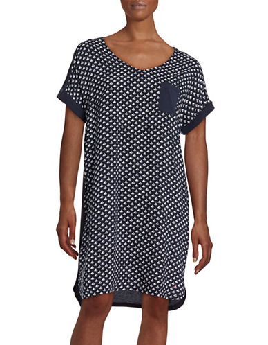 Nautica Knit-Woven Maritime Pyjama Pants-BLUE-X-Large 88495727_BLUE_X-Large