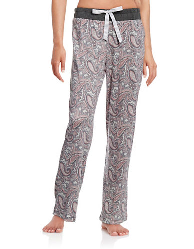 Nautica Paisley Pyjama Pants-GREY-X-Large 88438996_GREY_X-Large