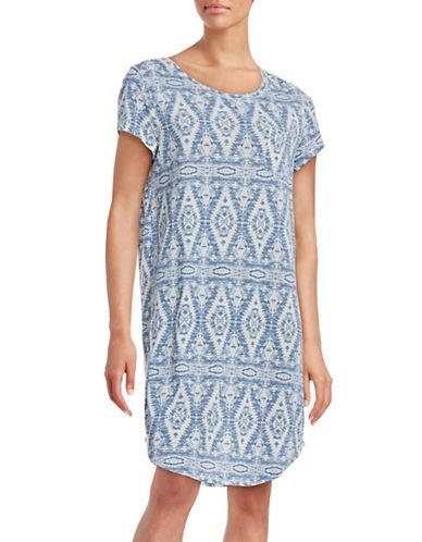 Lauren Ralph Lauren Knit Sleep Tee-BLUE-X-Large 88439814_BLUE_X-Large