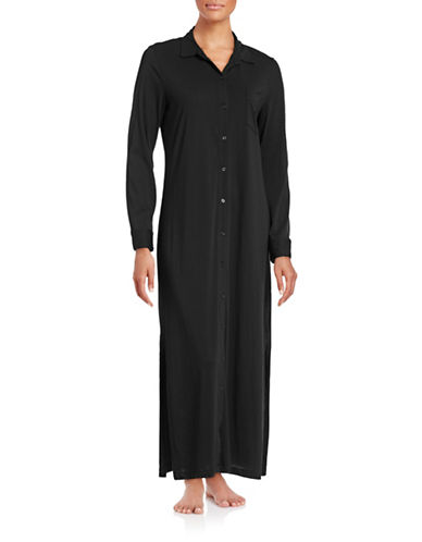 Lauren Ralph Lauren Maxi Sleep Shirt-BLACK-X-Large 88512879_BLACK_X-Large
