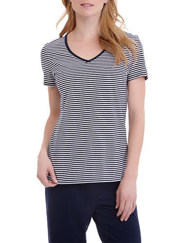 Nautica Knit Striped T-Shirt-BLUE-Medium