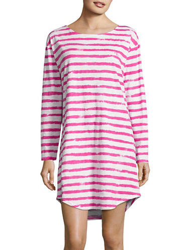 Lauren Ralph Lauren Striped Sleep Tee-PINK-Medium 88761048_PINK_Medium