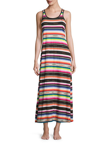 Lauren Ralph Lauren Mixed-Stripe Racerback Maxi Dress-MULTI-Medium 88761042_MULTI_Medium