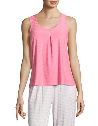 Nautica Honeycomb Knit Pyjama Tank-PINK-Small 88971555_PINK_Small