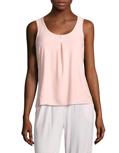 Nautica Honeycomb Knit Pyjama Tank-ORANGE-Small