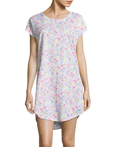 Lauren Ralph Lauren Floral Drop Shoulder Sleep Tee-PINK-X-Large 88843378_PINK_X-Large