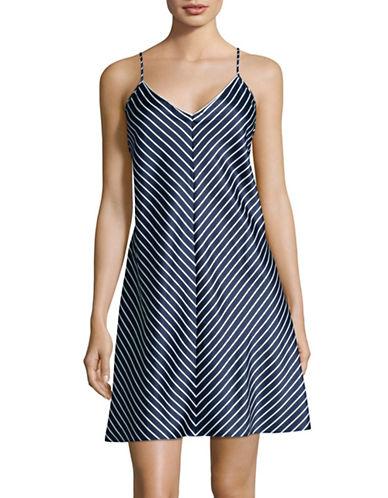Lauren Ralph Lauren Stripe Chemise-BLUE-Medium 88843396_BLUE_Medium