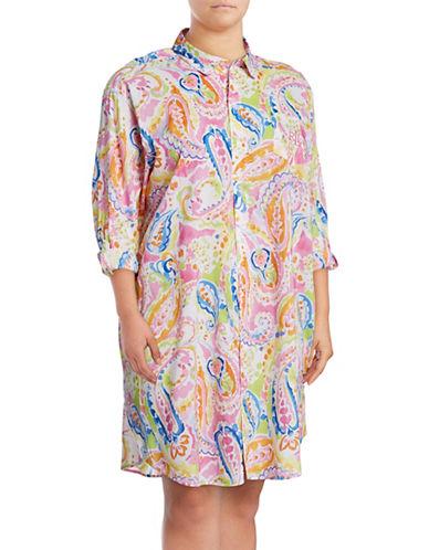 Lauren Ralph Lauren Printed Sleepshirt-PINK-1X