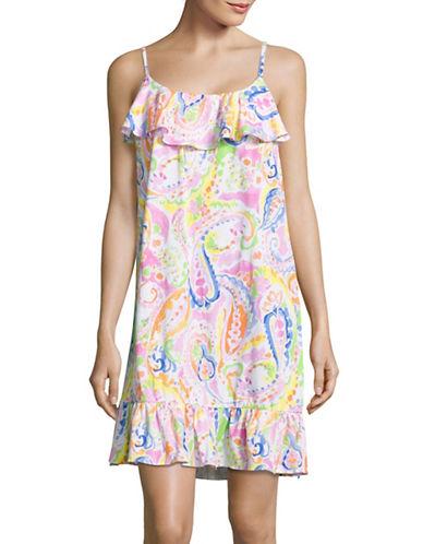Lauren Ralph Lauren Printed Flounce Hem Sleep Dress-PINK-Small