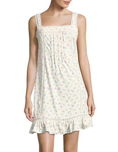 Lauren Ralph Lauren Cotton Jersey Nightgown-WHITE-Large 89227126_WHITE_Large