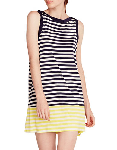 Kate Spade New York Striped Jersey Chemise-BLUE STRIPE-Large
