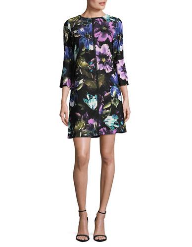 Gabby Skye Floral-Print Shift Dress-BLACK MULTI-10