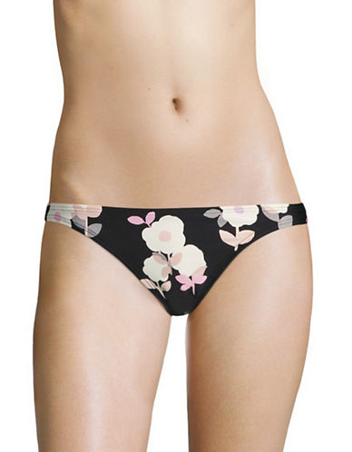 Kate Spade New York Floral Classic Bikini Briefs-BLACK MULTI-X-Small