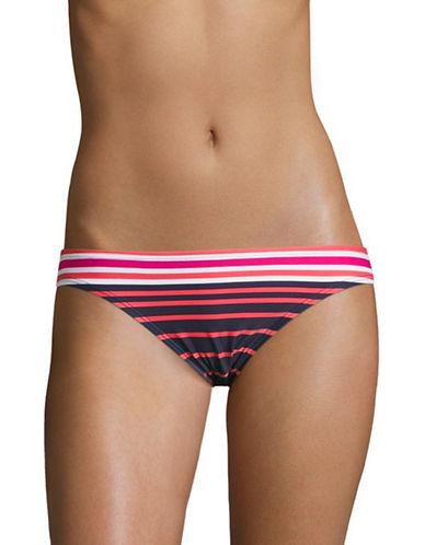 Michael Michael Kors Stripe Classic Bikini Bottoms-ELECTRIC PINK-X-Small