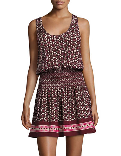 Kate Spade New York Tile Print Cover-Up Dress-RED-X-Large