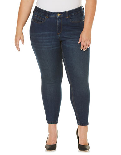 Rafaella Plus Comfort Waist Skinny Jeans-DK INDIGO-20W