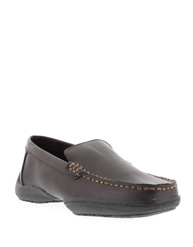 Kenneth Cole Reaction Driving Dime Loafers-BROWN-2