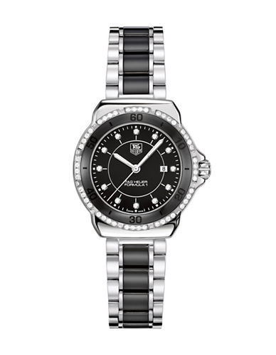 Tag Heuer Ladies Formula 1 Small Dial Black Ceramic Diamond Watch WAH1312BA086-BLACK-One Size