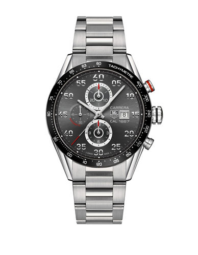 Tag Heuer Chronograph Carrera Steel Bracelet Watch-SILVER-One Size