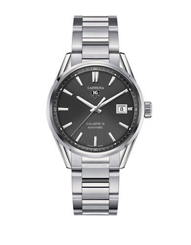 Tag Heuer Analog Carrera WAR211A.BA0782 Polished Stainless Steel Watch-SILVER-One Size