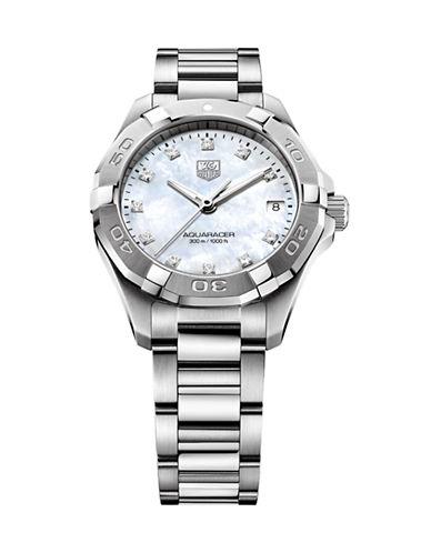 Tag Heuer Ladies Aquaracer Diamond Stainless Steel Bracelet Watch WAY1313BA091-SILVER-One Size