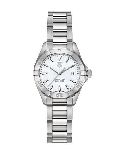 Tag Heuer Ladies Aquaracer Stainless Steel Bracelet Watch WAY1412BA092-SILVER-One Size