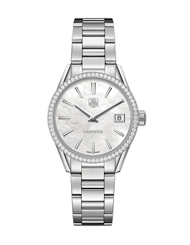 Tag Heuer Ladies Carrera Stainless Steel and Diamond Watch WAR1315BA077-SILVER-One Size