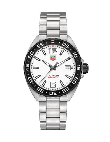 Tag Heuer Mens Formula 1 Stainless Steel Watch WAZ1111BA087-SILVER-One Size