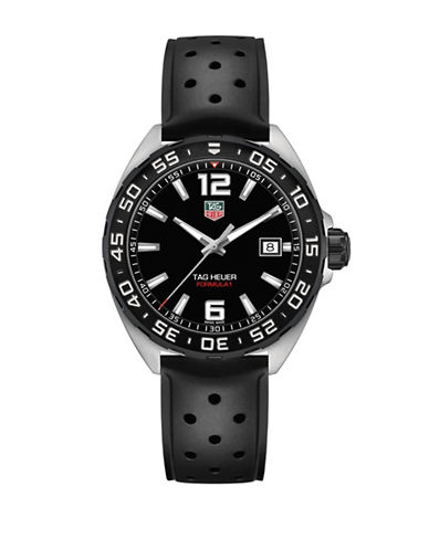 Tag Heuer Analog Formula 1 Rubber Watch-BLACK-One Size
