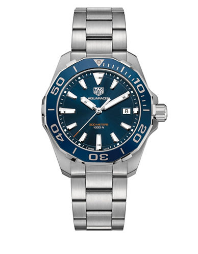 Tag Heuer Aquaracer Analog WAY111C. BA0928 Bracelet Watch-SILVER-One Size
