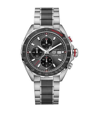 Tag Heuer Chronograph Cal 16 Stainless Steel Bracelet Watch-TWO TONE-One Size