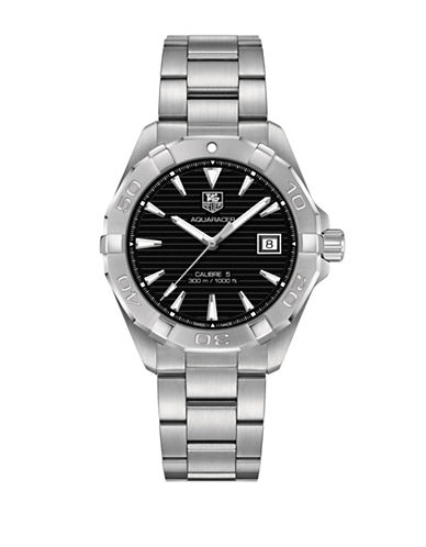 Tag Heuer Aquaracer WAY2110.BA0928 Steel Bracelet Watch-SILVER-One Size