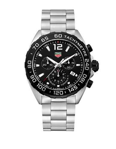 Tag Heuer Chronograph TAG Heuer Formula 1 Steel Bracelet Watch-BLACK-One Size