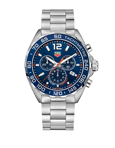 Tag Heuer Chronograph Formula 1 Steel Bracelet Watch-SILVER-One Size