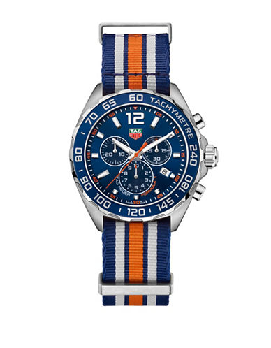 Tag Heuer Chronograph TAG Heuer Formula 1 Steel Bracelet Watch-BLUE-One Size