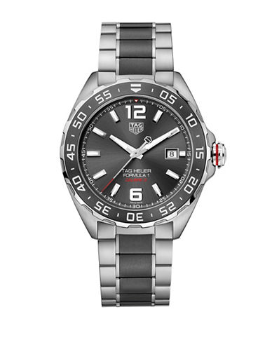 Tag Heuer Chronograph Formula 1 CAZ1014.BA0842 Steel and Black Ceramic Bracelet Watch-BLACK-One Size