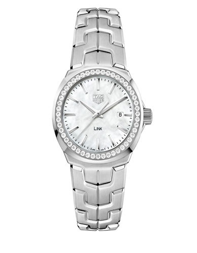 Tag Heuer Link Lady 0.676 CT Diamonds and Stainless Steel Watch-WHITE-One Size