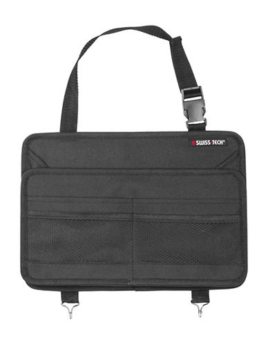 Swiss Tech Back Seat Organizer-BLACK-One Size